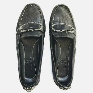 Cole Haan Women's Buckle Toe Black Loafer 6B